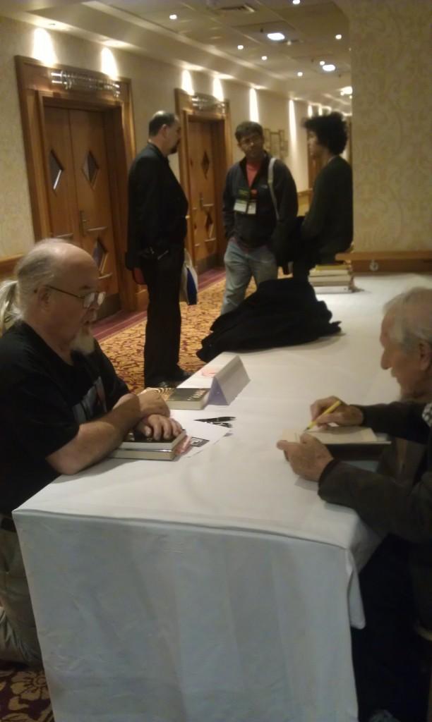 Brian signing