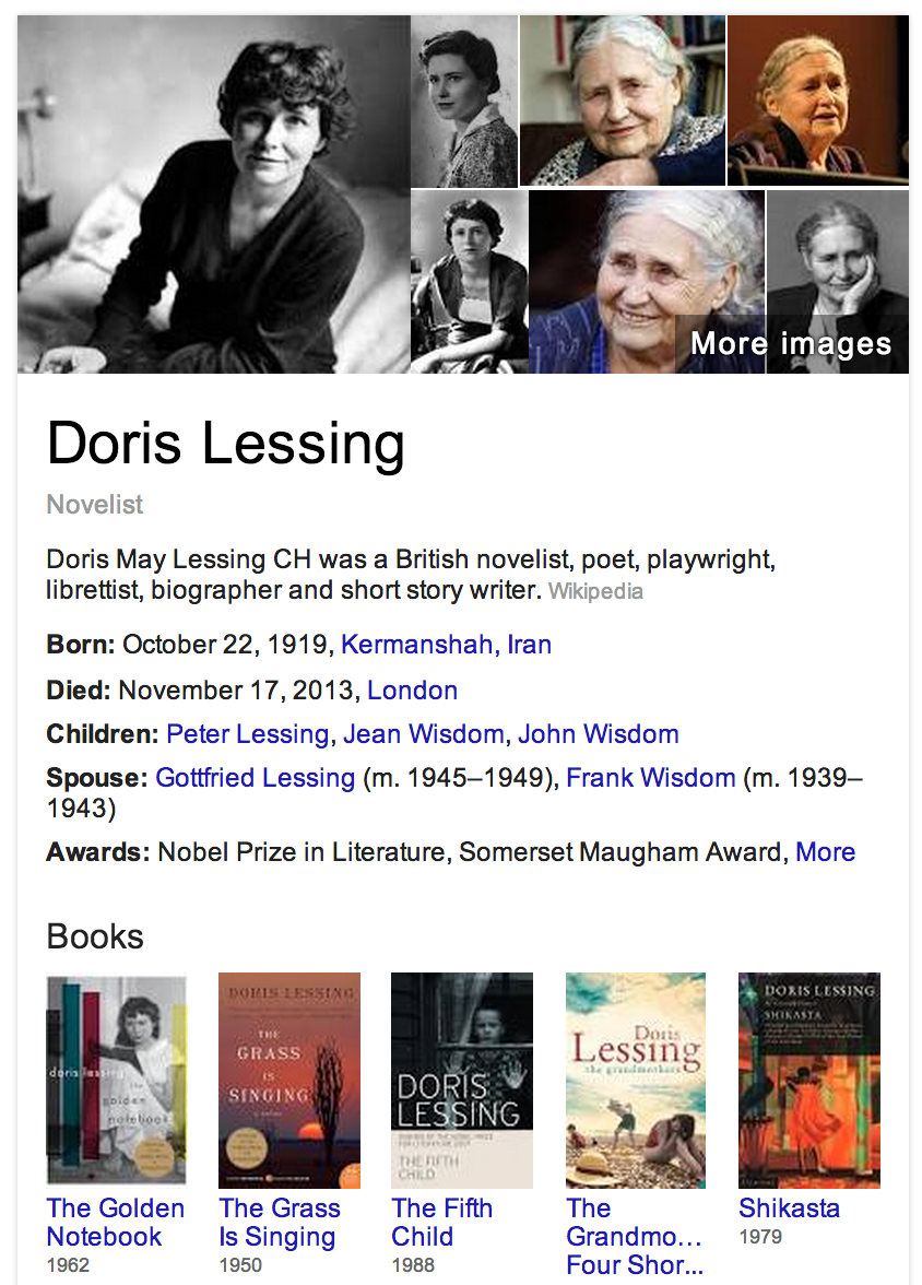 Doris Lessing RIP